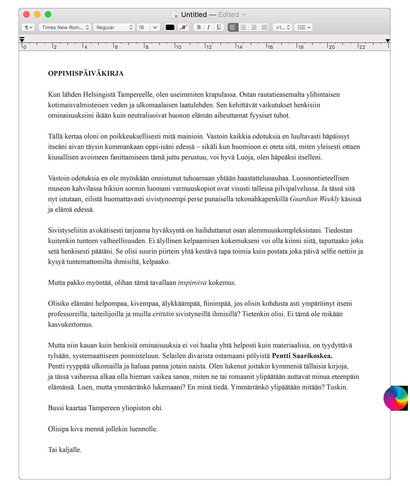 Teksti: Tuija Siltamäki.
